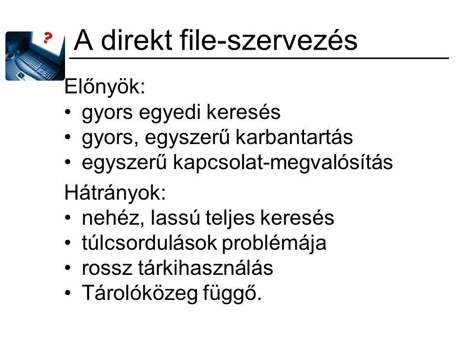 A direkt file-szervezés