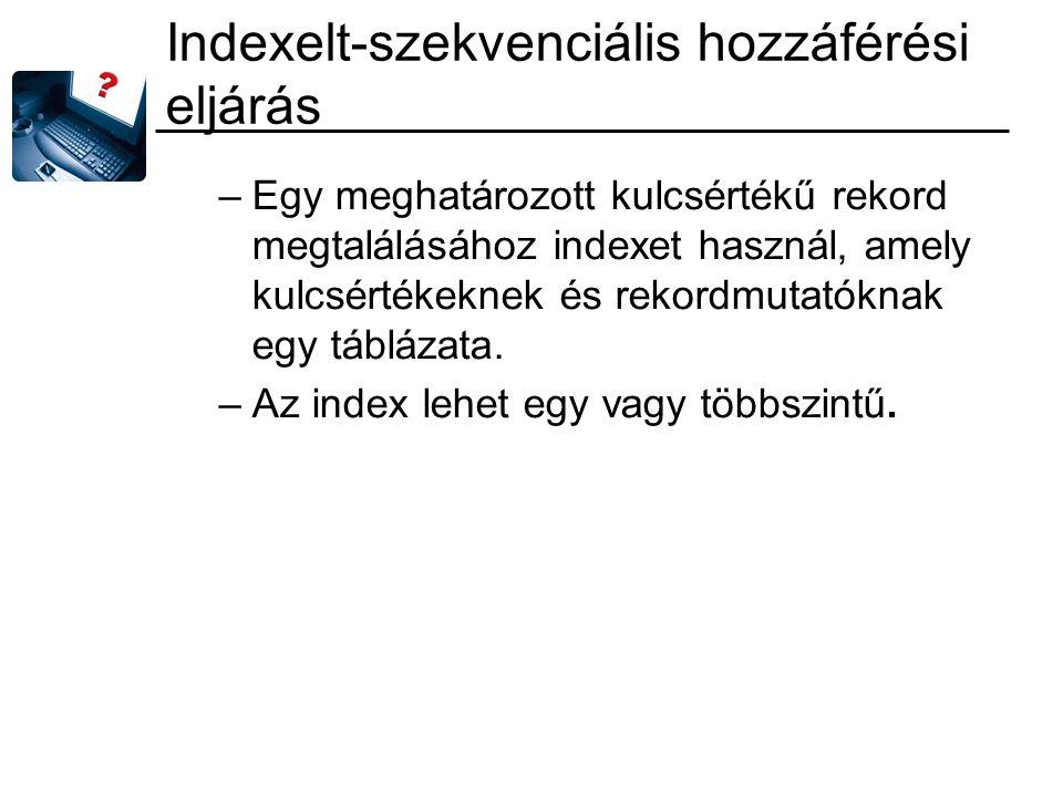 Indexelt-szekvenciális hozzáférési eljárás