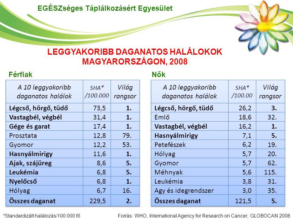 LEGGYAKORIBB DAGANATOS HALÁLOKOK MAGYARORSZÁGON, 2008