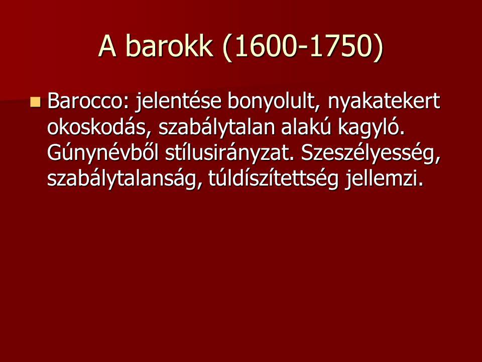 A barokk (1600-1750)