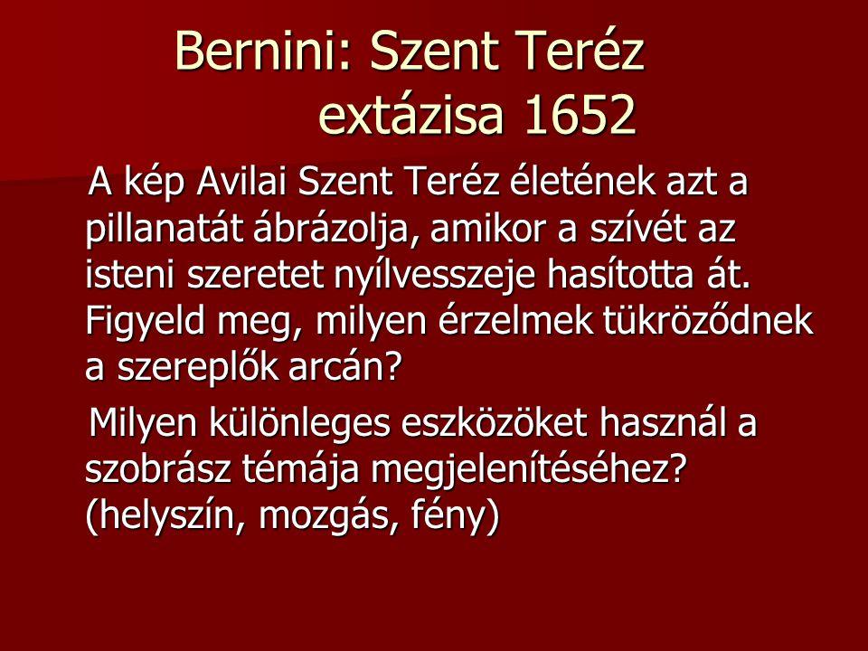 Bernini: Szent Teréz extázisa 1652
