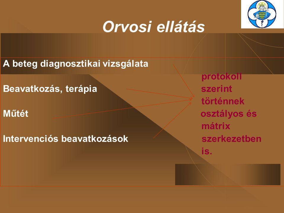 Orvosi ellátás A beteg diagnosztikai vizsgálata protokoll