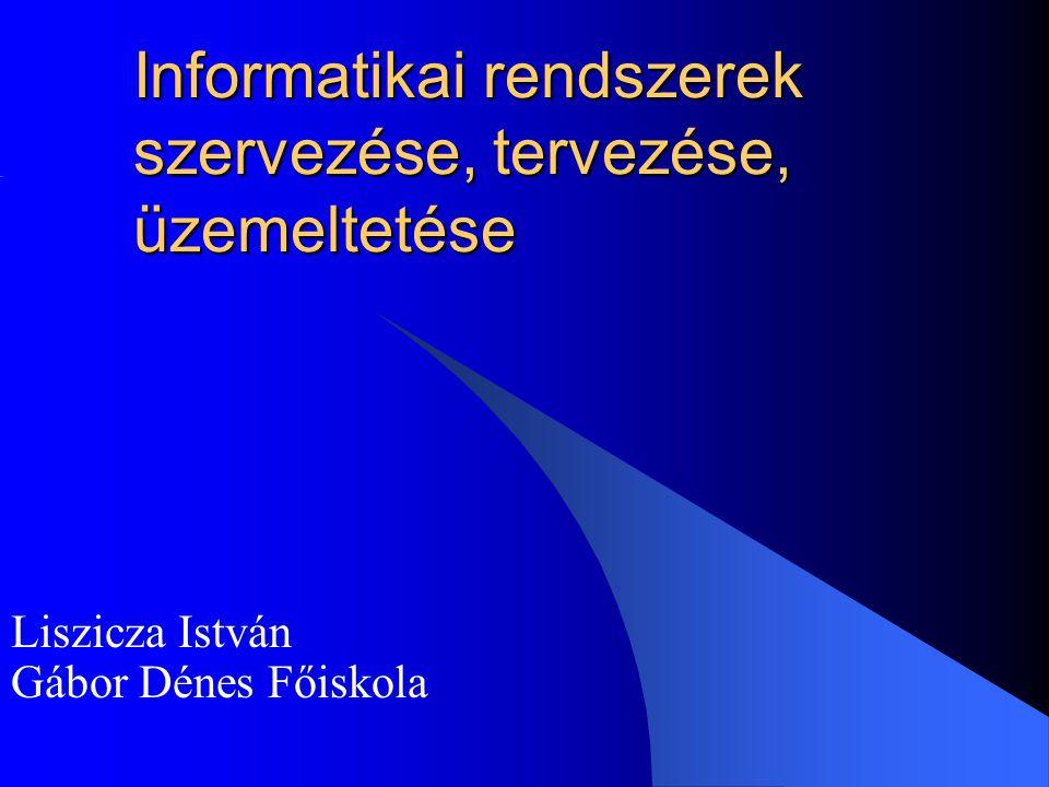 Informatikai rendszerek szervezése, tervezése, üzemeltetése