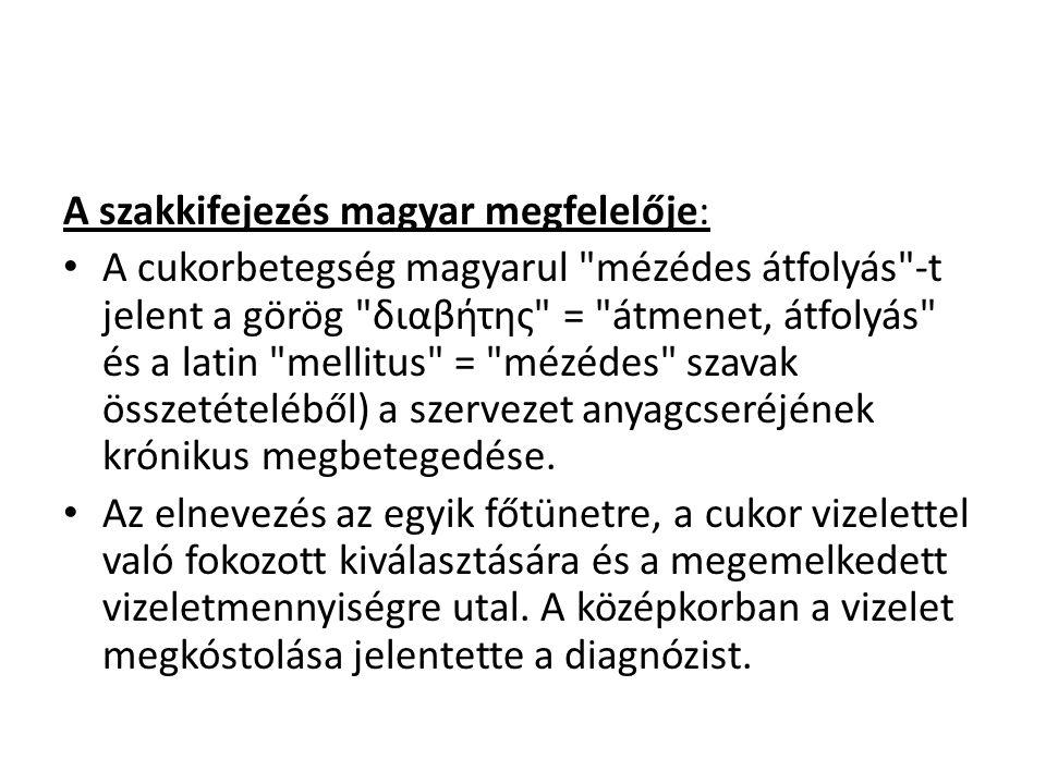 A szakkifejezés magyar megfelelője: