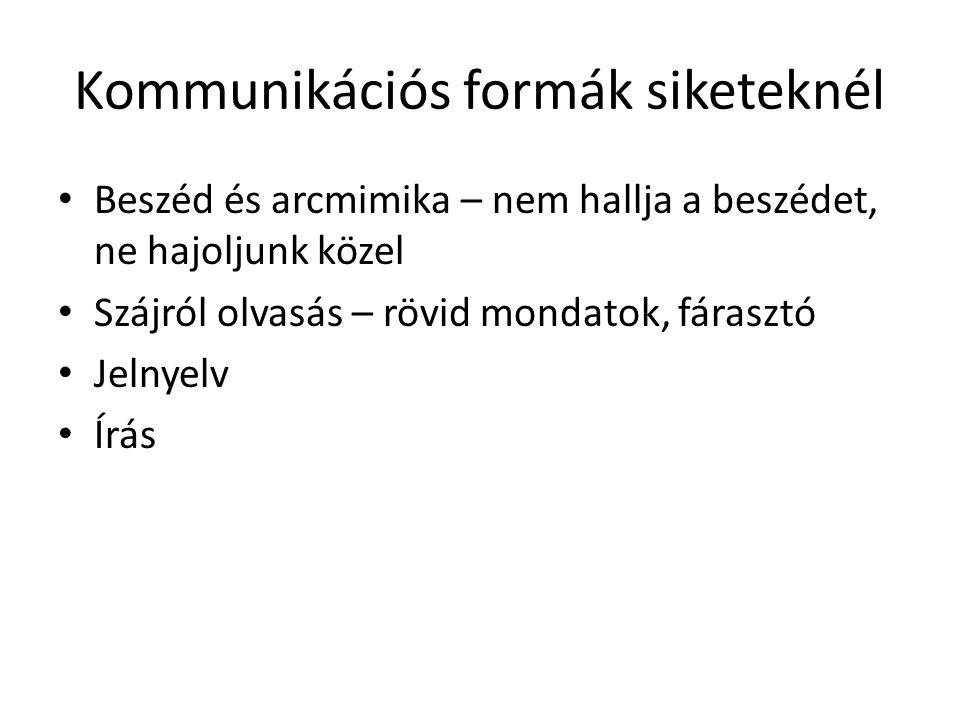 Kommunikációs formák siketeknél