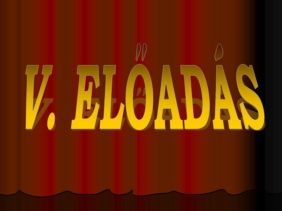 V. ELŐADÁS