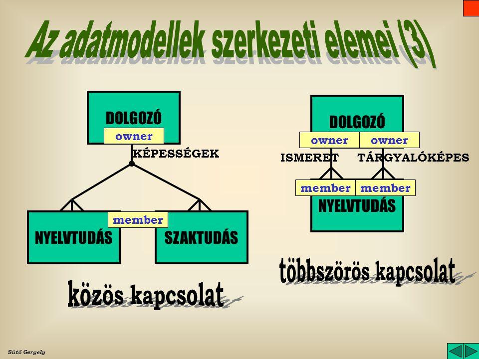 Az adatmodellek szerkezeti elemei (3)