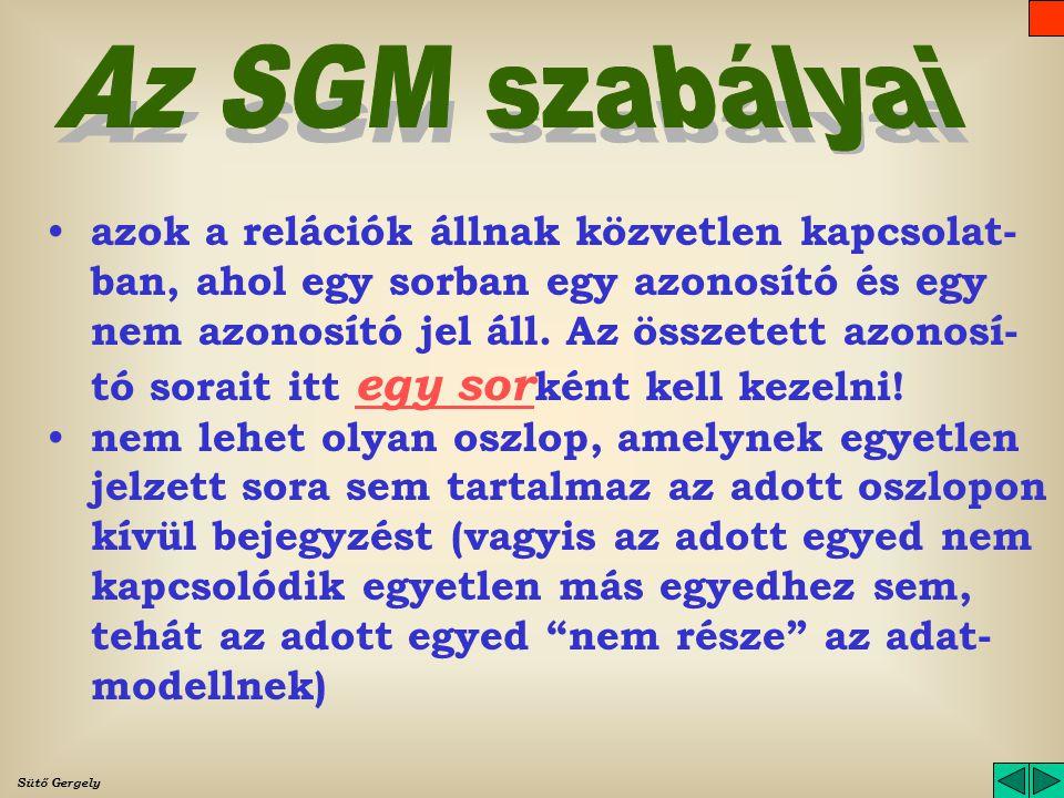 Az SGM szabályai