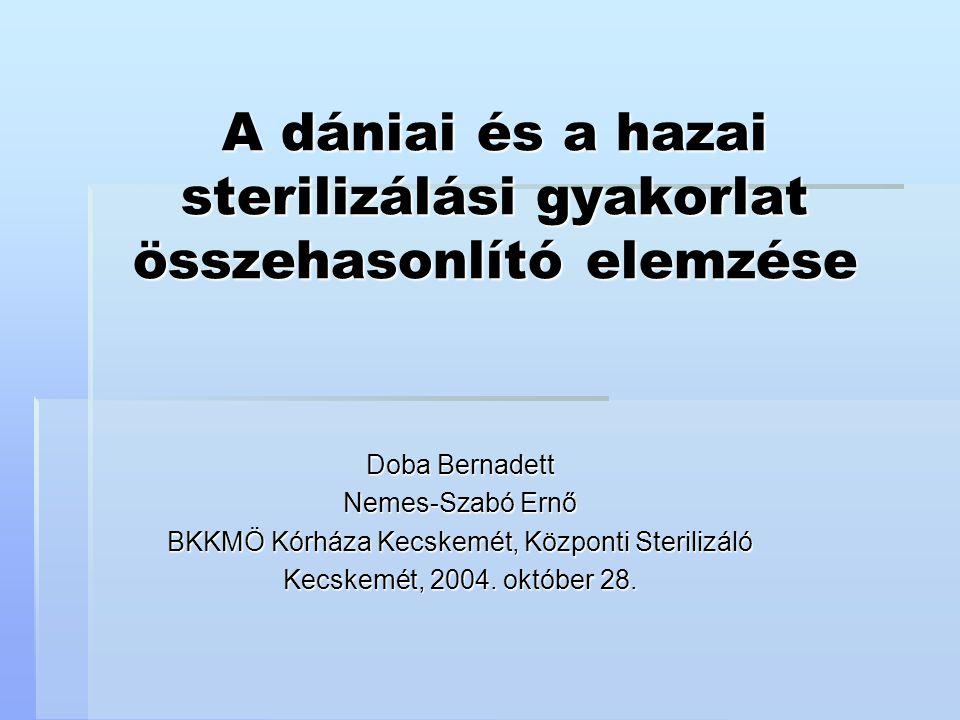A dániai és a hazai sterilizálási gyakorlat összehasonlító elemzése