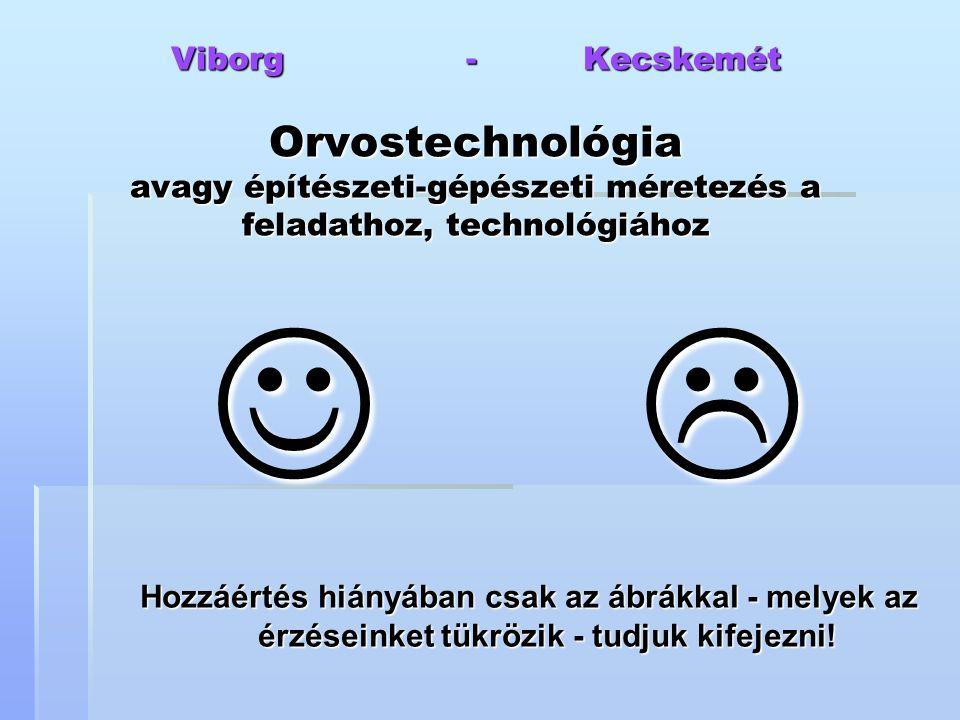 Viborg - Kecskemét Orvostechnológia avagy építészeti-gépészeti méretezés a feladathoz, technológiához