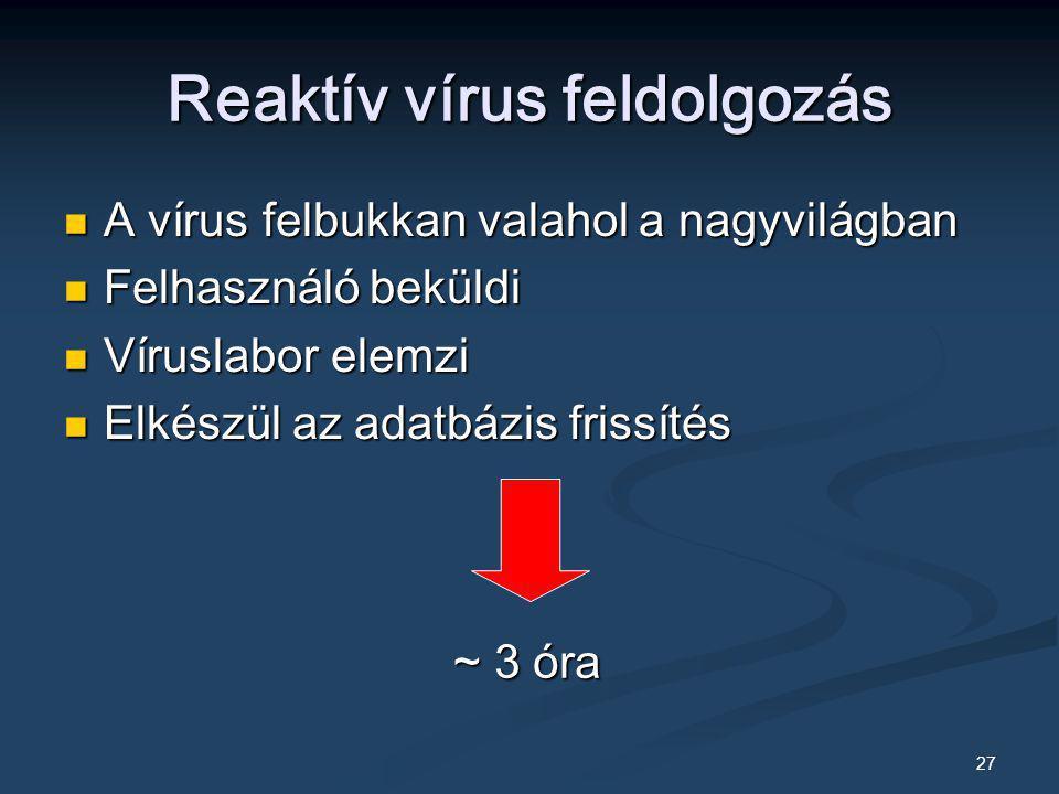 Reaktív vírus feldolgozás