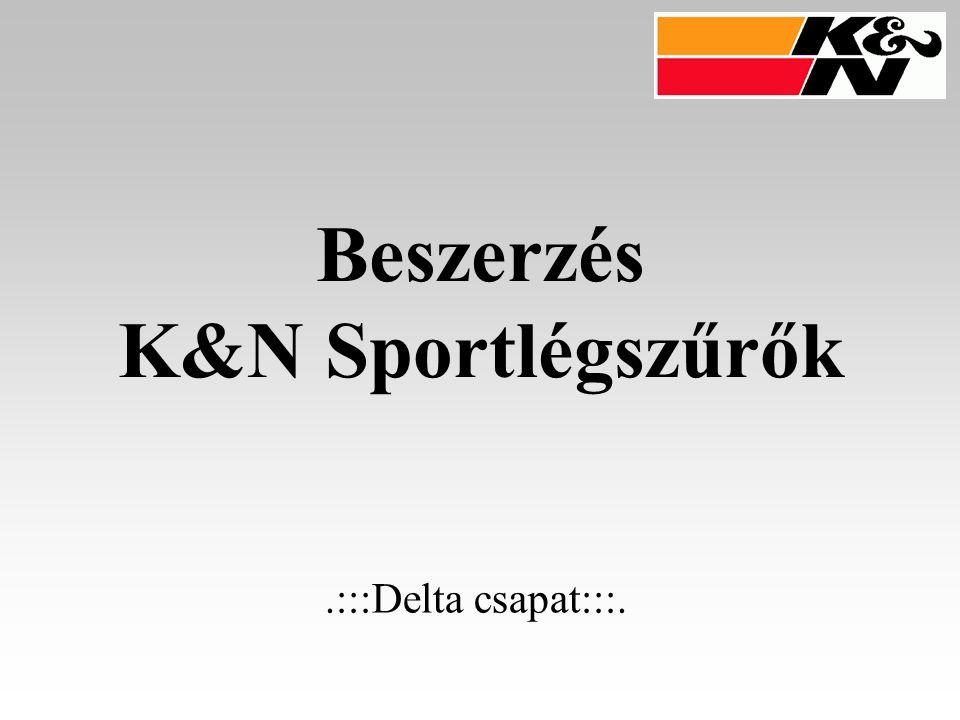 Beszerzés K&N Sportlégszűrők