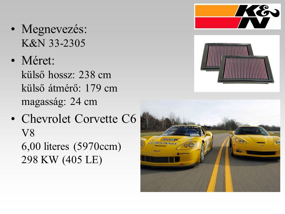 Megnevezés: K&N 33-2305 Méret: külső hossz: 238 cm külső átmérő: 179 cm magasság: 24 cm.