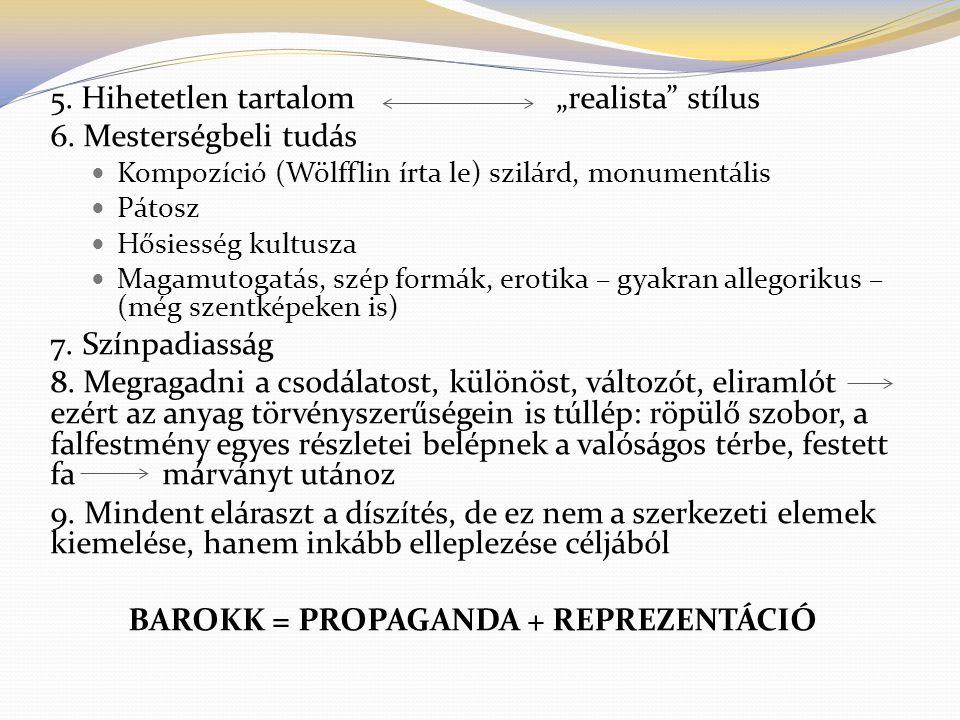 BAROKK = PROPAGANDA + REPREZENTÁCIÓ