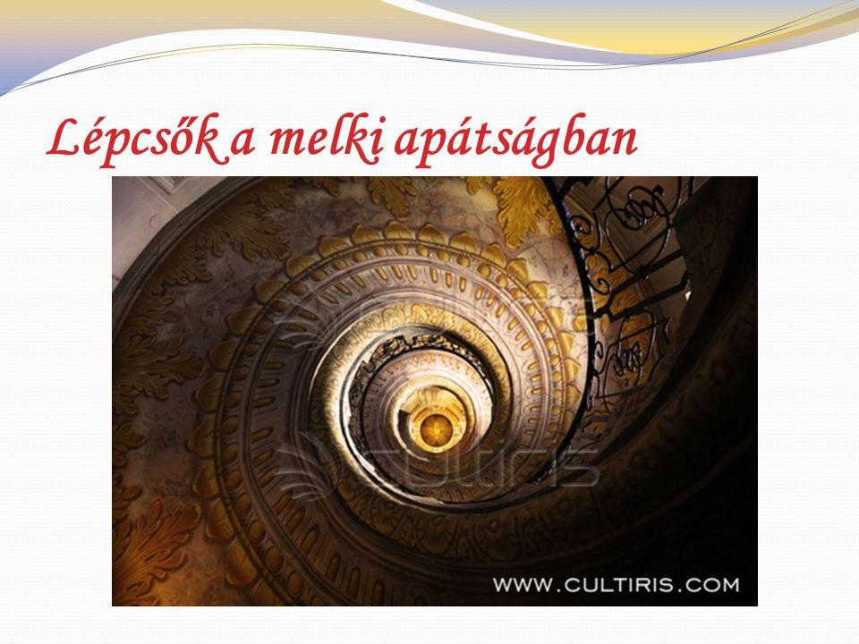 Lépcsők a melki apátságban
