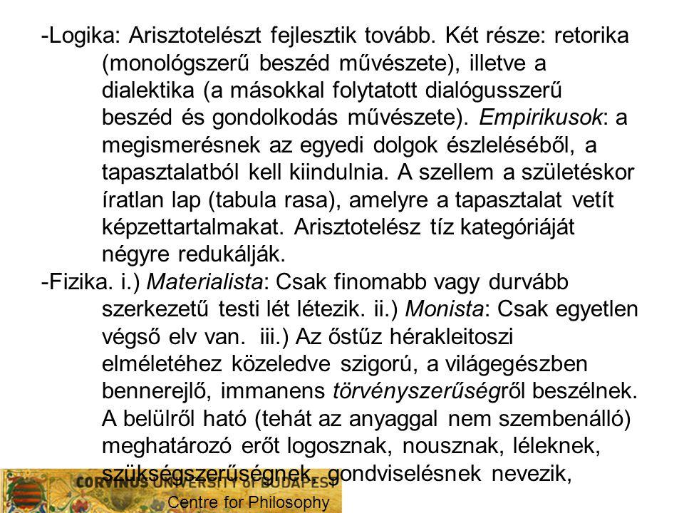-Logika: Arisztotelészt fejlesztik tovább
