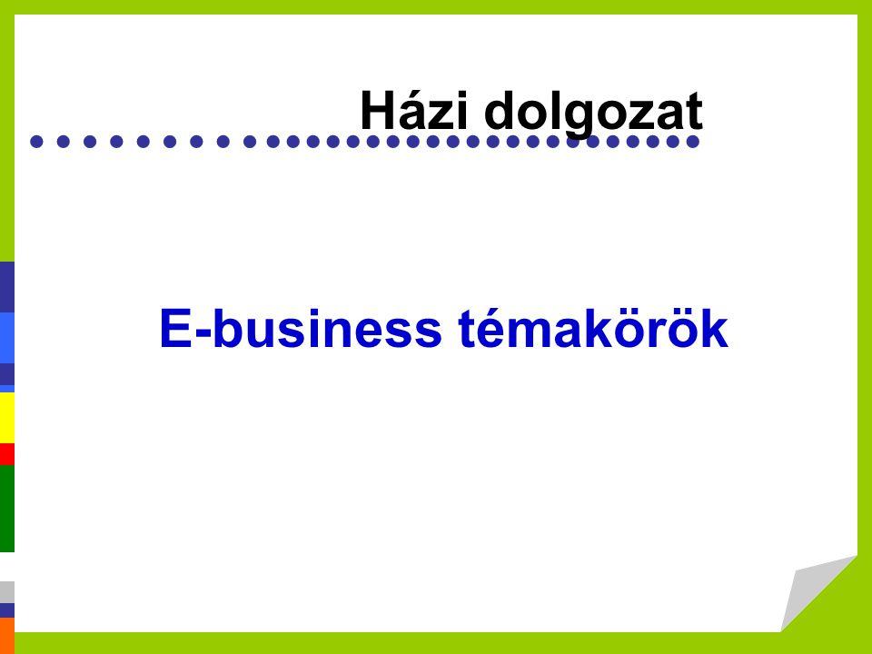 Házi dolgozat E-business témakörök