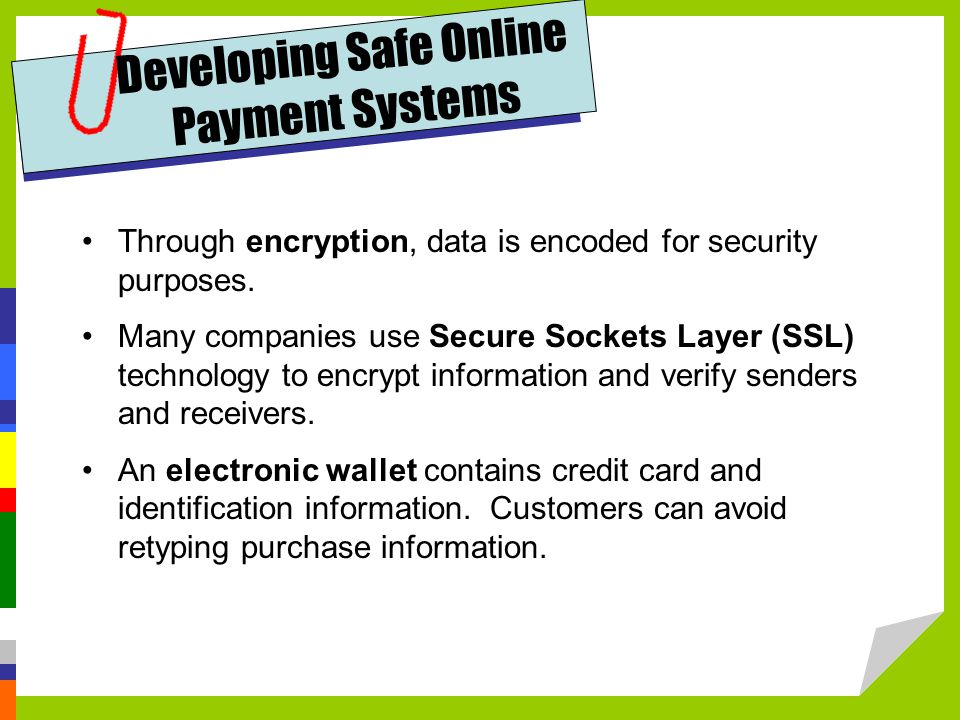 Developing Safe Online Payment Systems