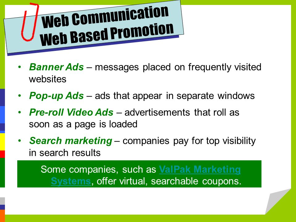 Web Communication Web Based Promotion