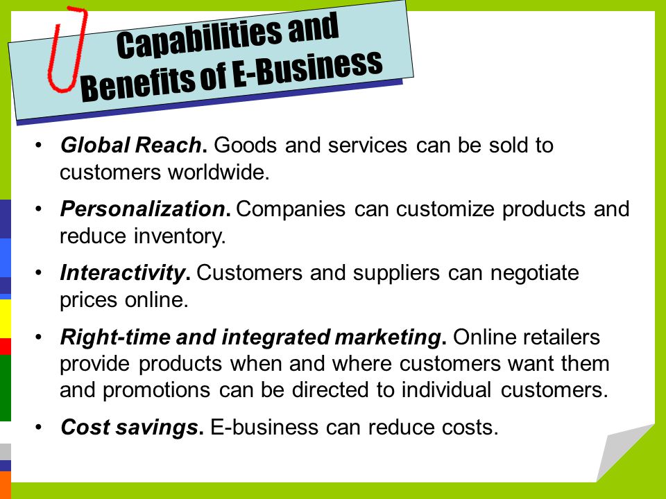 Benefits of E-Business