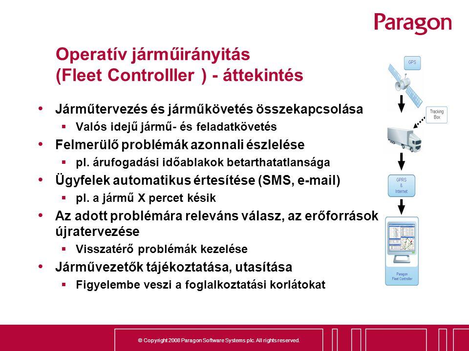 Operatív járműirányitás (Fleet Controlller ) - áttekintés
