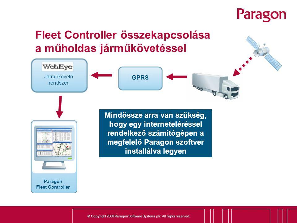 Fleet Controller összekapcsolása a műholdas járműkövetéssel