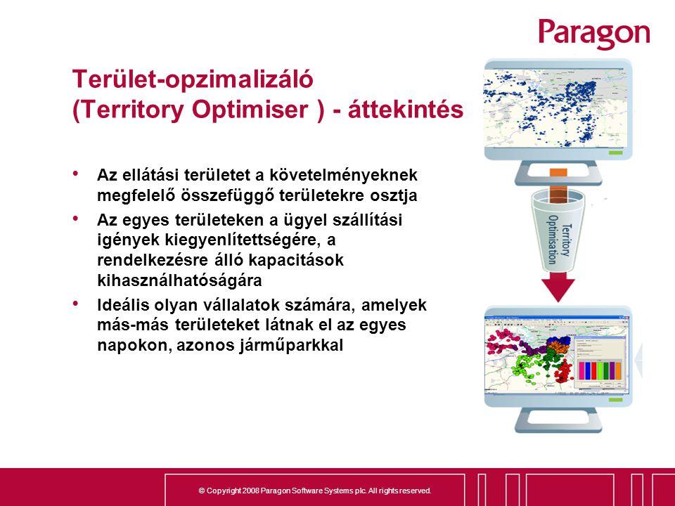 Terület-opzimalizáló (Territory Optimiser ) - áttekintés