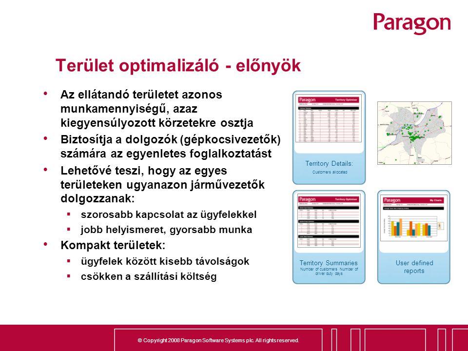 Terület optimalizáló - előnyök