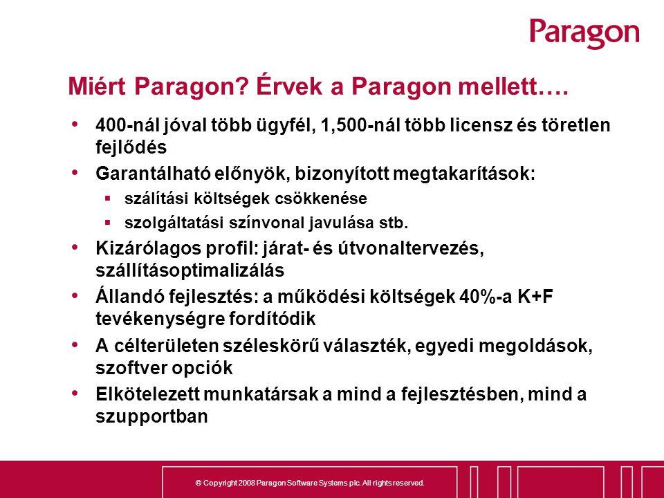 Miért Paragon Érvek a Paragon mellett….