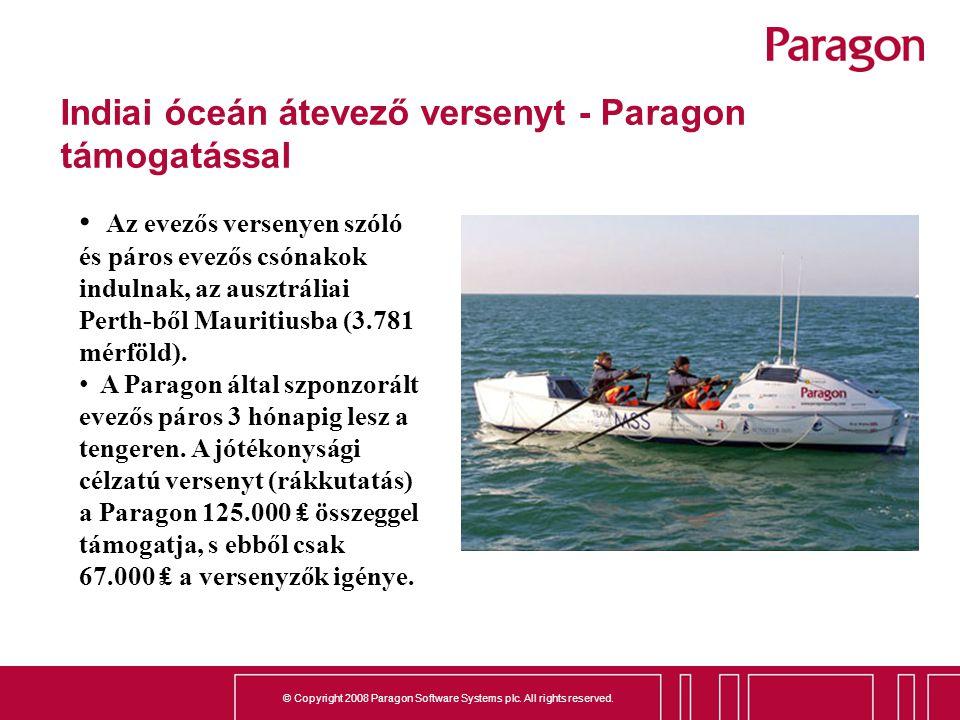 Indiai óceán átevező versenyt - Paragon támogatással