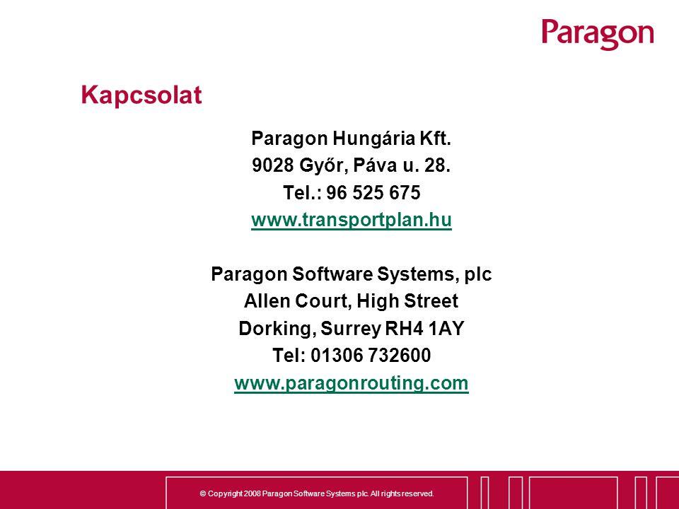 Paragon Software Systems, plc Allen Court, High Street