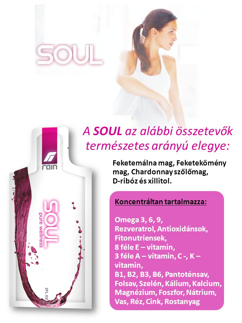 A SOUL az alábbi összetevők természetes arányú elegye: