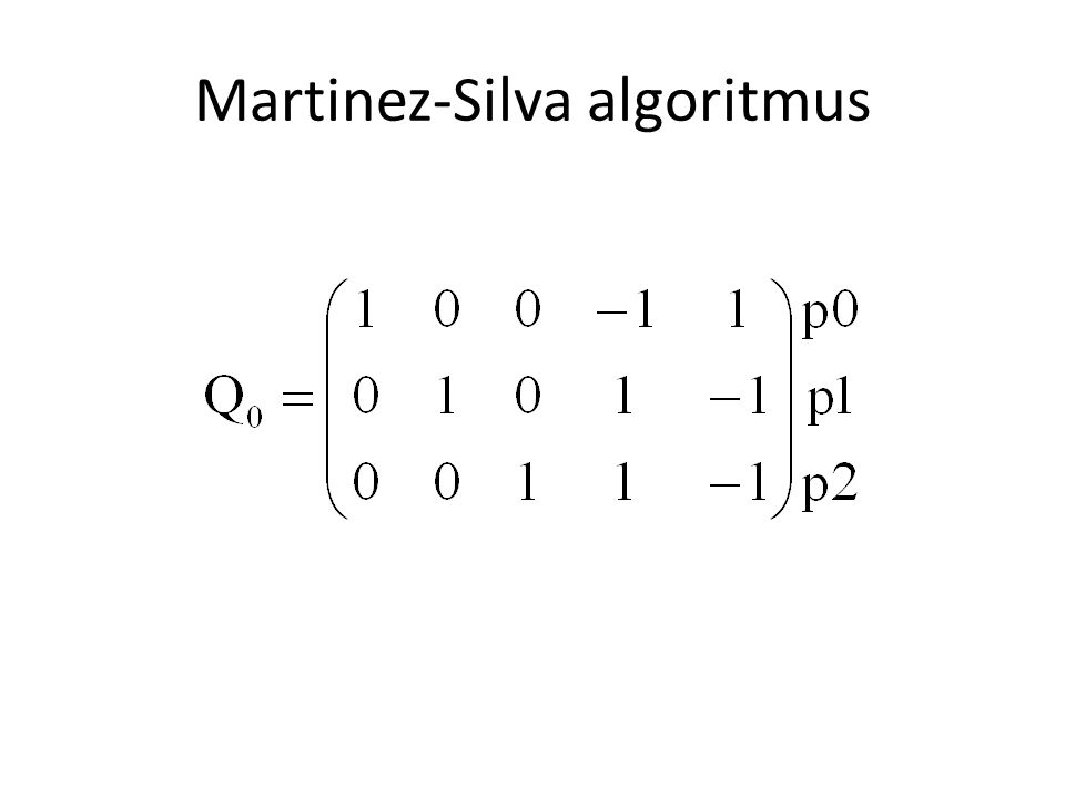 Martinez-Silva algoritmus