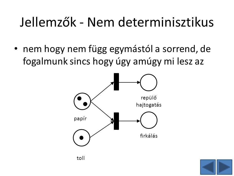 Jellemzők - Nem determinisztikus