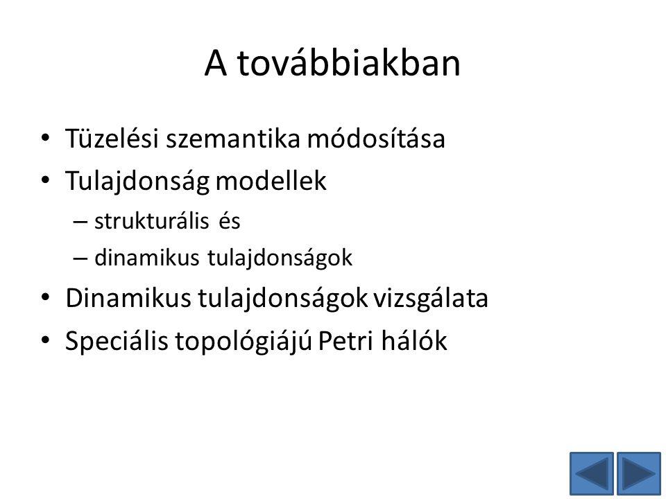 A továbbiakban Tüzelési szemantika módosítása Tulajdonság modellek