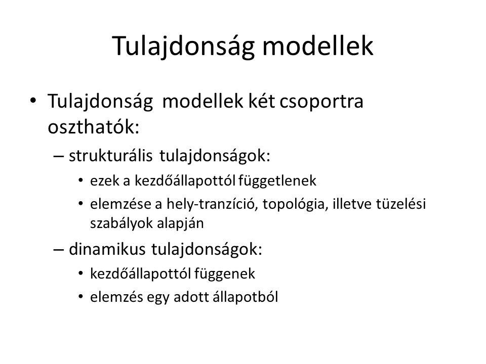 Tulajdonság modellek Tulajdonság modellek két csoportra oszthatók: