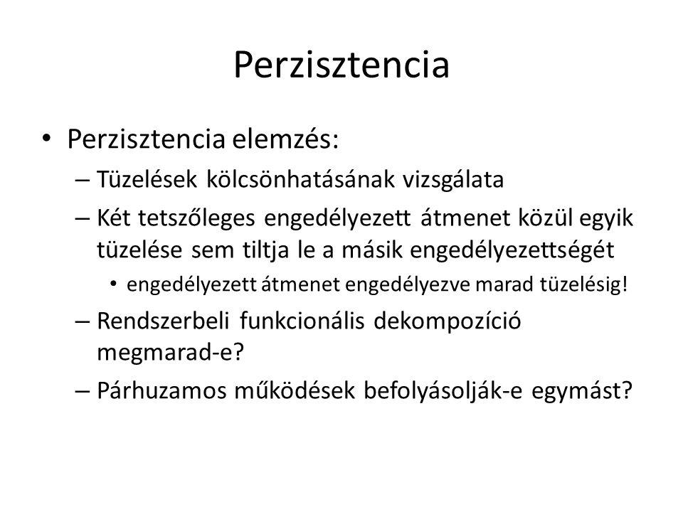 Perzisztencia Perzisztencia elemzés: