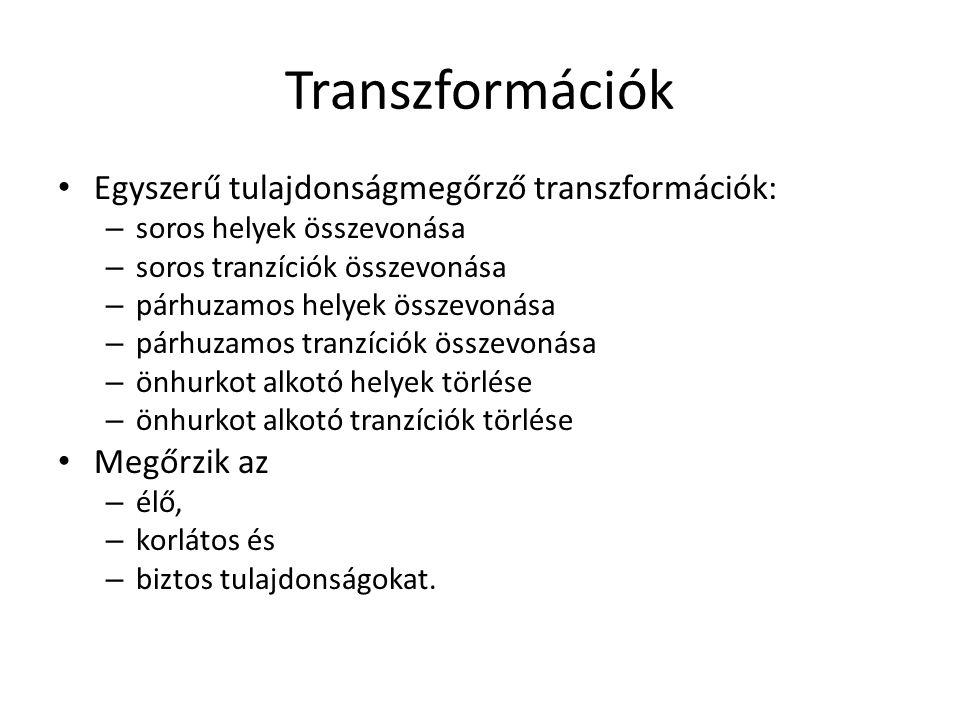 Transzformációk Egyszerű tulajdonságmegőrző transzformációk:
