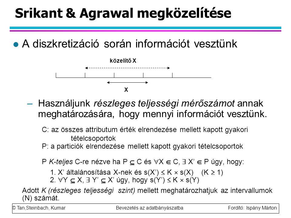 Srikant & Agrawal megközelítése