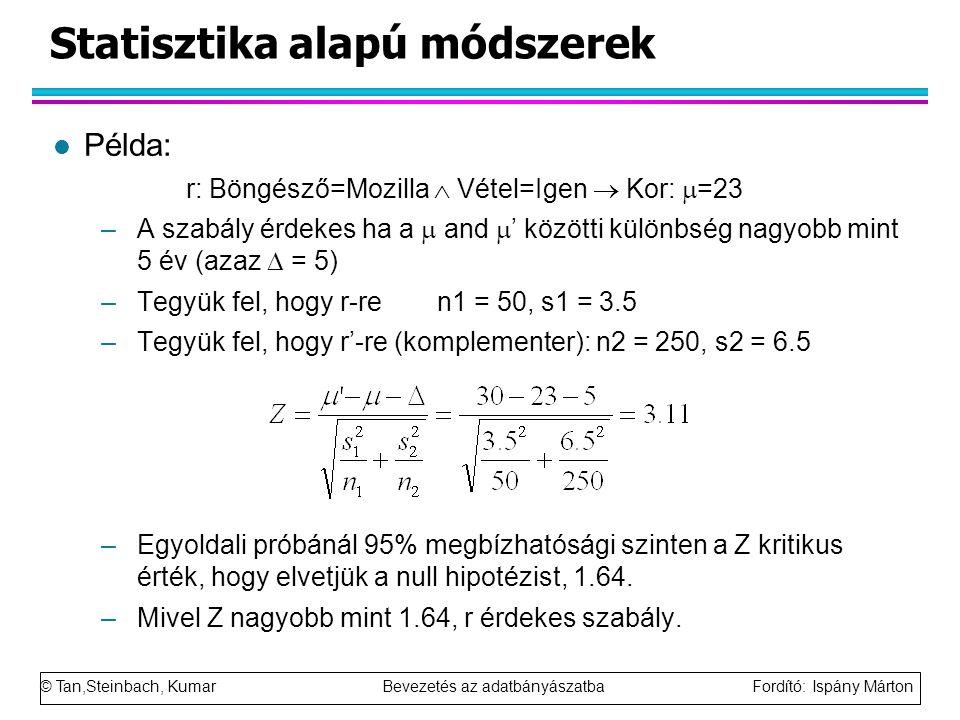 Statisztika alapú módszerek