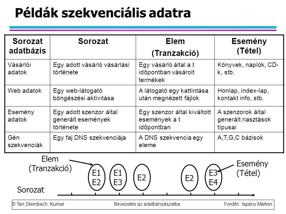 Példák szekvenciális adatra