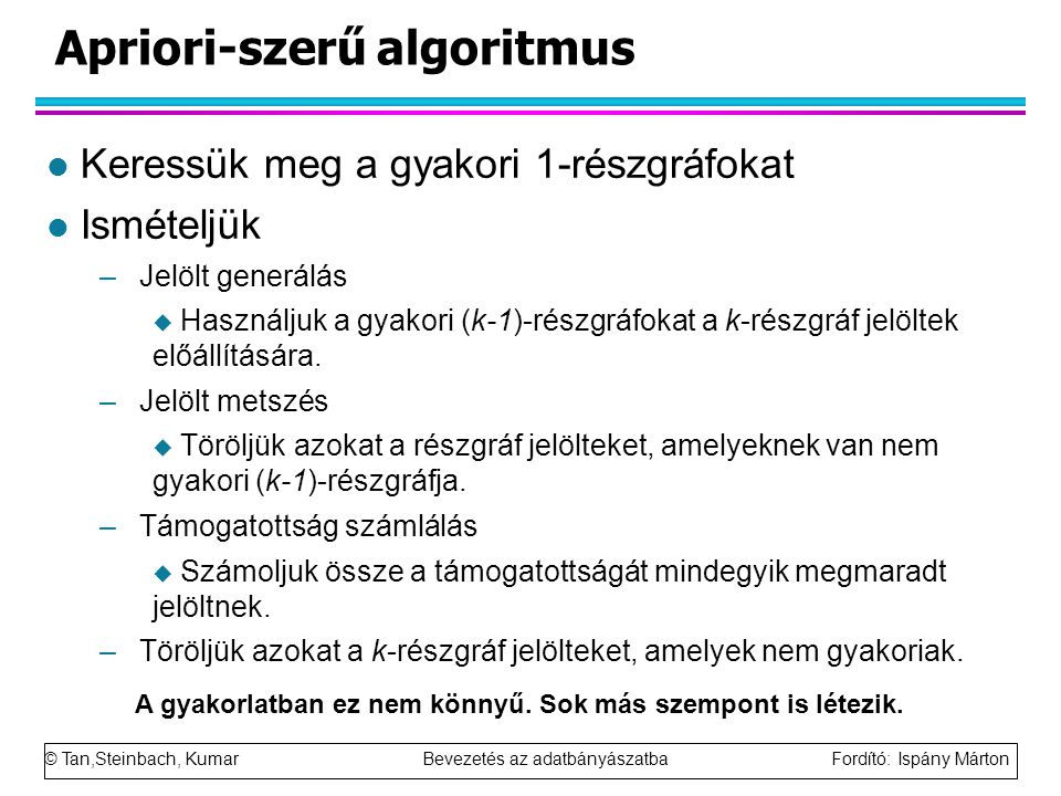 Apriori-szerű algoritmus