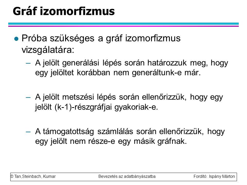 Gráf izomorfizmus Próba szükséges a gráf izomorfizmus vizsgálatára: