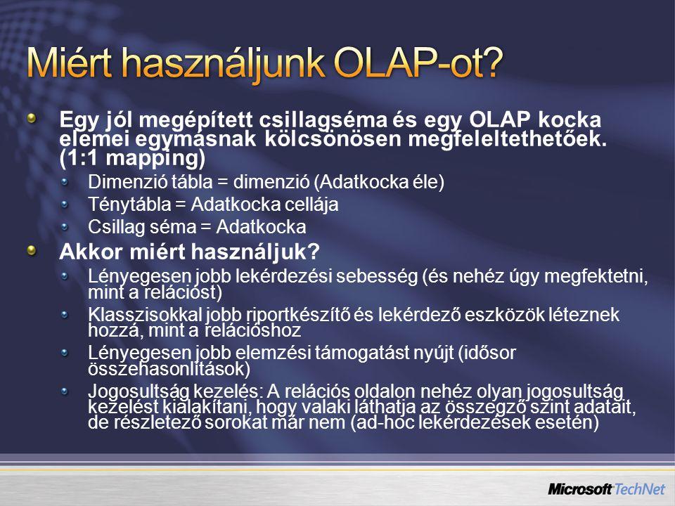 Miért használjunk OLAP-ot