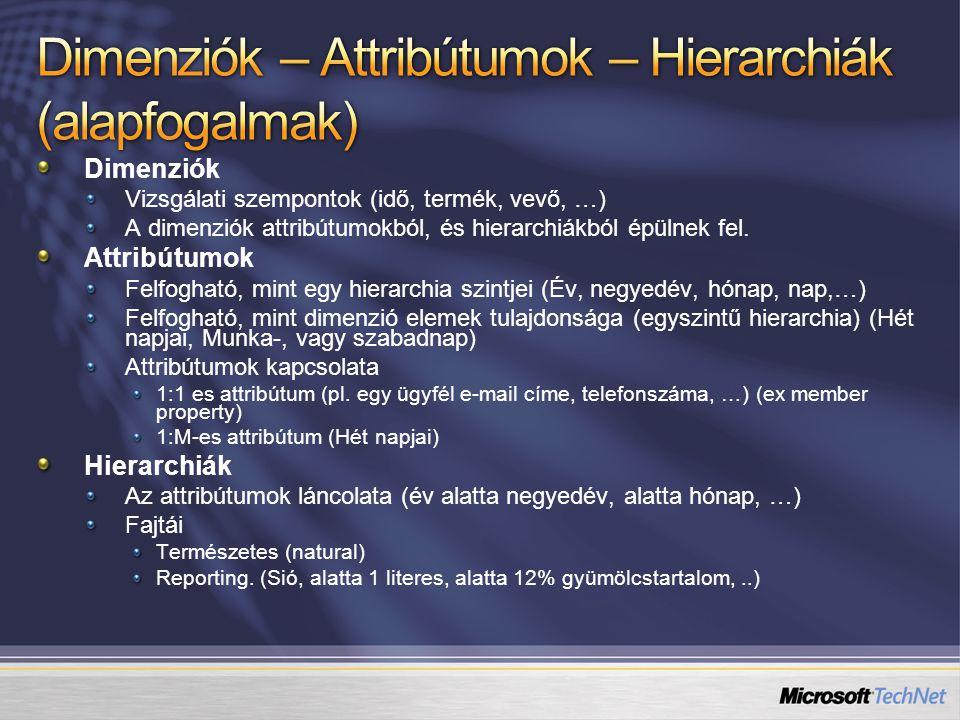 Dimenziók – Attribútumok – Hierarchiák (alapfogalmak)