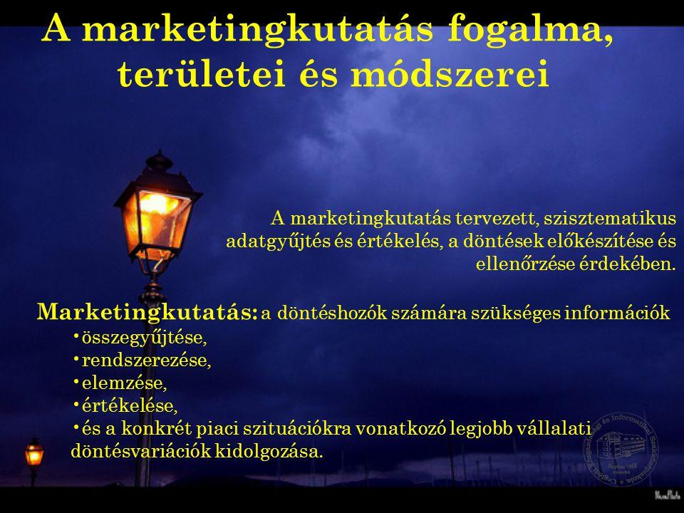 A marketingkutatás fogalma,