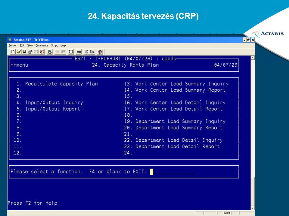 24. Kapacitás tervezés (CRP)