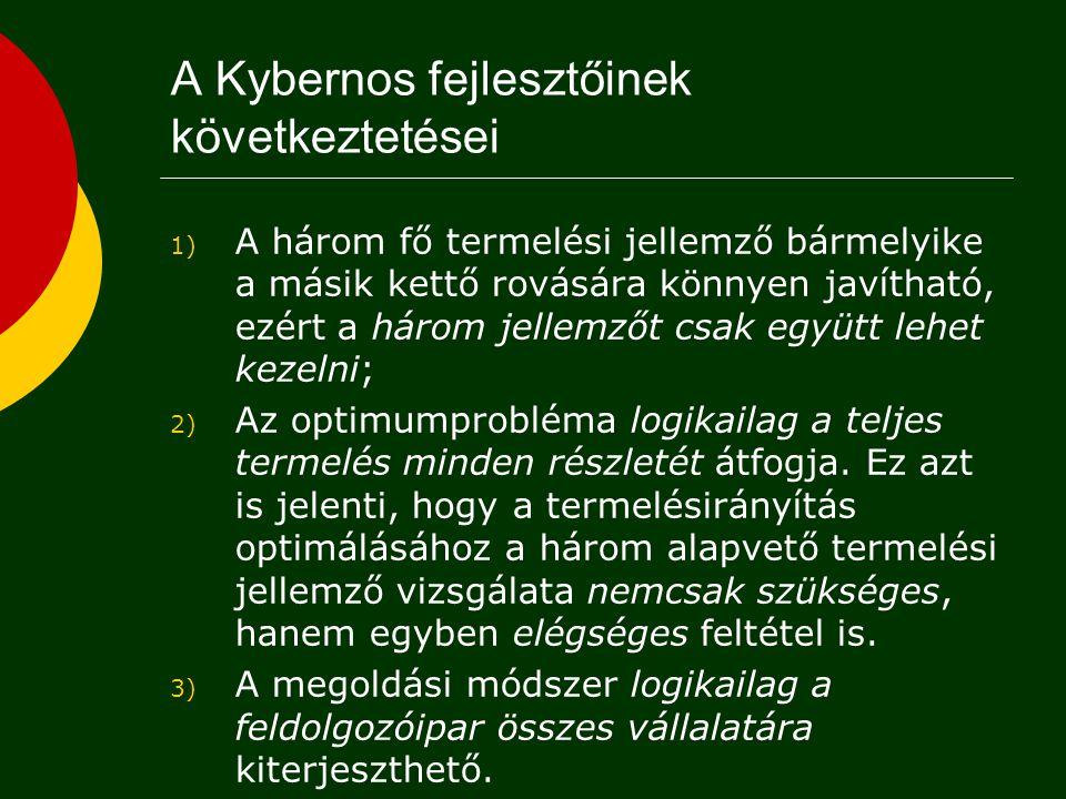 A Kybernos fejlesztőinek következtetései