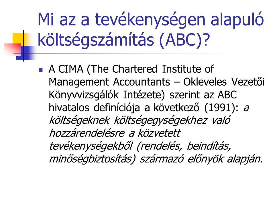 Mi az a tevékenységen alapuló költségszámítás (ABC)