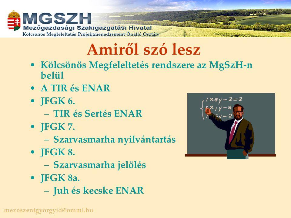 Amiről szó lesz Kölcsönös Megfeleltetés rendszere az MgSzH-n belül
